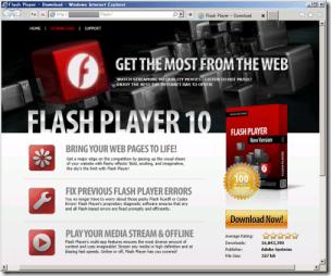 ウイルスを配布してる Adobe Flash Player の偽サイト! ナンと正規サイト内に偽ページが作られてるん