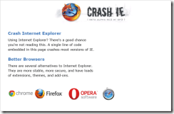 CRASH IE - Internet Explorer アンチサイト