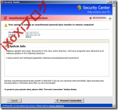 Security Monitor 2012 偽のSecurity Center